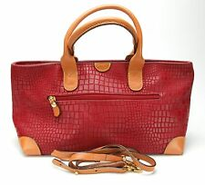 Bric's Phenomenal Red/Orange Leather Women's Handbag (Shoulder Bag) Clean. Italy