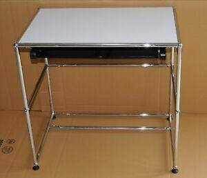 USM Haller Beistelltisch Schreibtisch perlgrau Top Zustand