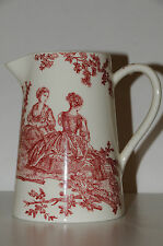 $120 NEW in BOX GIEN FRANCE 4 SEASONS Lg PITCHER Les Delices Des 4 Saisons red