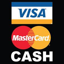 "Visa Mastercad Cash Logo 8"" x  8"""
