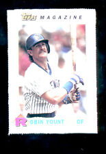 1990 Topps Magazine ROBIN YOUNT Milwaukee Brewers Hall of Fame Card Rare