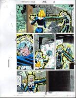 1992 Fantastic Four 362 page 2 original Marvel Comics color guide art: 1990's