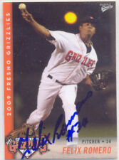 FELIX ROMERO SAN FRANCISCO GIANTS MINOR LEA SIGNED CARD
