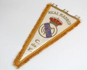 Vintage Football Pennant 1970's - F.C. REAL MADRID - Spain Flag