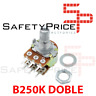 Potenciometro B250K lineal DOBLE 250k OHM kΩ  - linear double potentiometer 250k