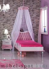Kinderbett Anastasia rosa 90 x 200 cm Mädchenbett für Prinzessin Kinderzimmer