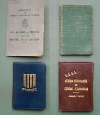 #8667 Argentina lot of 4 various identification documents 1952-1960