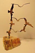 Copper CURTIS JERE help? Seagulls in Flight Sculpture w/ Onyx MID CENTURY MODERN