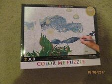 Color-Me PUZZLE~VINCENT VAN GOGH~STARRY NIGHT~300 pieces~NEW in box