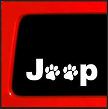 Paw print Sticker for Jeep Wrangler Cherokee - Die Cut decal cat dog pet rescue