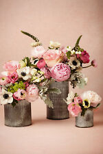Vases from BHLDN,  Ridged Tin Vase, Wedding, flowers - SMALL