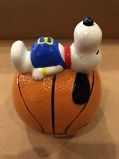 Vintage Snoopy on Basketball Coin Bank 1966 Peanuts Sports Series Composite