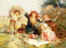 Children at Play in Hay, by Frederick Morgan