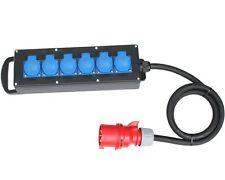CEE Stromverteiler Vollgummi Baustromverteiler 16A / 400V auf 6x230V