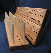 1200mm (4') Elm Peg Loom, 3 gauge, 3 rows  - crafted from Yorkshire hardwood