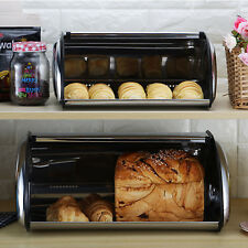 Brotkasten Brotbehälter Brotkästen mit Rolldeckel Brotkiste Brotbox Edelstahl