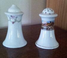 Salt and pepper shakers, porcelain, not matching, vintage