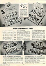 1953 ADVERT Noma Christmas Tree Lights Bubble Lites Safety Plug