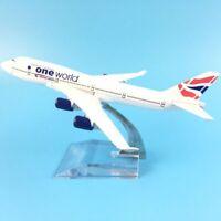 British One World Boeing 747 1:400 die cast Metal Model Plane Aircraft Airplane