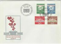 Switzerland 1962 Museum Palace of Nations ONU Slogan FDC Stamps Cover Ref 25412