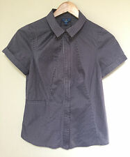 Cue pinstripe short sleeve shirt - size 8 - as new