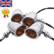 4x Chrome Bullet MotorcycleTurn Signal Indicator Lights Blinker For Harley Honda