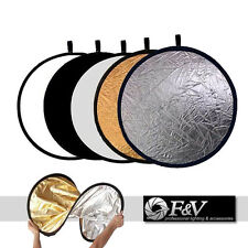 """5in1 Multi Photo Disc Collapsible Light Reflector Photography Studio 24"""" 60cm"""