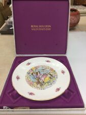 Royal Doulton 1978 Valentines Day Plate with Box - annual collector - free ship
