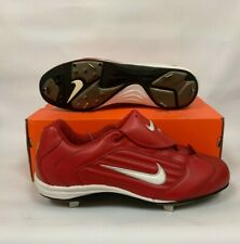 NIKE MENS AIR SLIDER CLEATS RED/WHITE 13.0 304804