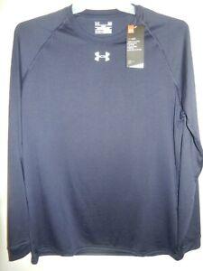1605-11 Mens UNDER ARMOUR Long Sleeve Shirt 1268475 410 Blue $29.99 New