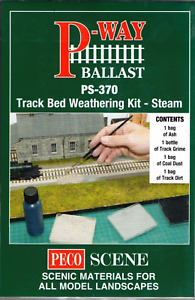 Peco Track Bed Weathering Kit Steam