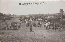 * ANZIO - Artiglieria al Campo 1911 Fotocartolina, Vimercate per Oreno