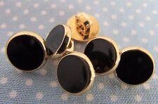 5 oro nero e camicia abito pulsanti 1cm gambo di fissaggio