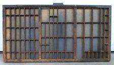 "ANTIQUE WOOD PRINTER'S TYPESET TRAY DRAWER SHADOW BOX 32"" Hamilton 89 Slots X1"