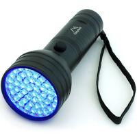 51 LED Linterna UV 395nm Ultravioleta Antorcha Luz Negra Detector Orina Manchas