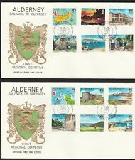 Kappysstamps 10518-30 Fdcs Great Britain Alderney Baliwick Of Guernsey 1983