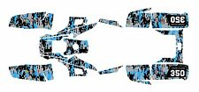 Yamaha Warrior 350 Graphics Decal kit Digital Camo Blue