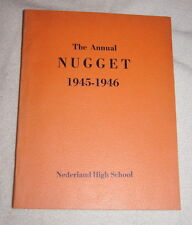Annual Nugget, Yearbook of Nederland High School 1945-1946 Colorado
