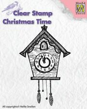 Nellie Snellen Clear Stamp Christmas Time Clock CT012