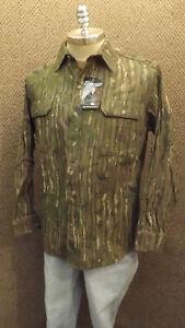 Vtg NEW Walls Realtree Camo Hunting Shirt  Cotton Chamois NOS sz Lrg USA Made BR
