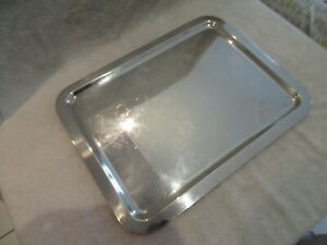 1970 French silver-plated rectangular tray Christofle Lino Sabattini Mercury