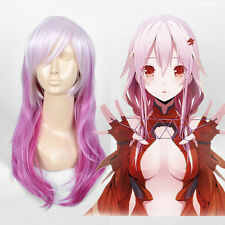 Long Pastel silver white layered Pink rose Hair Guilty Crown cosplay wig wigs