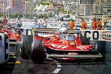 """Nicholas Watts print - """"Jody Scheckter - 1979 World Champ"""" - Signed by Scheckter"""