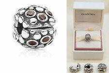 PANDORA Bubble Clip Charm Bead Sterling Silver 925 & ALE 790593TCZ