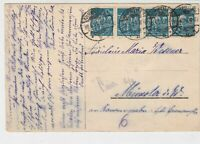 Germany Ahrweiler 1923 Chatty Multiple Stamps & Cancels Post Card Ref 32178