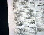 1860 Newspaper ABRAHAM LINCOLN Republican Nominee For President Hannibal Hamlin