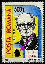 2001 Chess,Schach,Echecs,Scacchi,surcharged,ROSCA,philosopher,Romania,M.5588,MNH