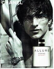 PUBLICITE ADVERTISING 026  2005  CHANEL  parfum homme ALLURE SPORT