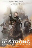 12 Stark Original Filmposter Zweiseitig Advance Stil Chris Hemsworth