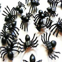 *50*pc Halloween Plastic Black Spider Joking Toys Realistic Prop Decoration